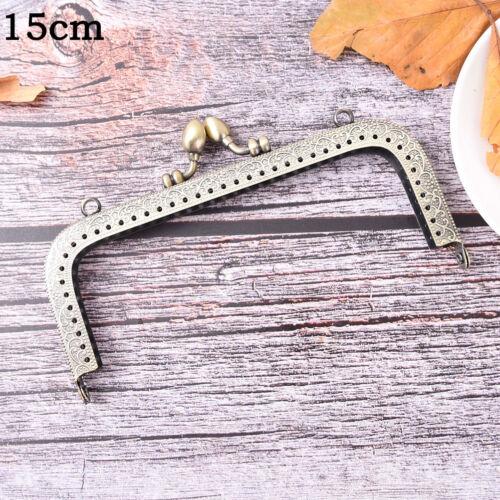 Bronze DIY Purse Handbag Handle Coin Bag Metal Kiss Clasp Lock Frame FO