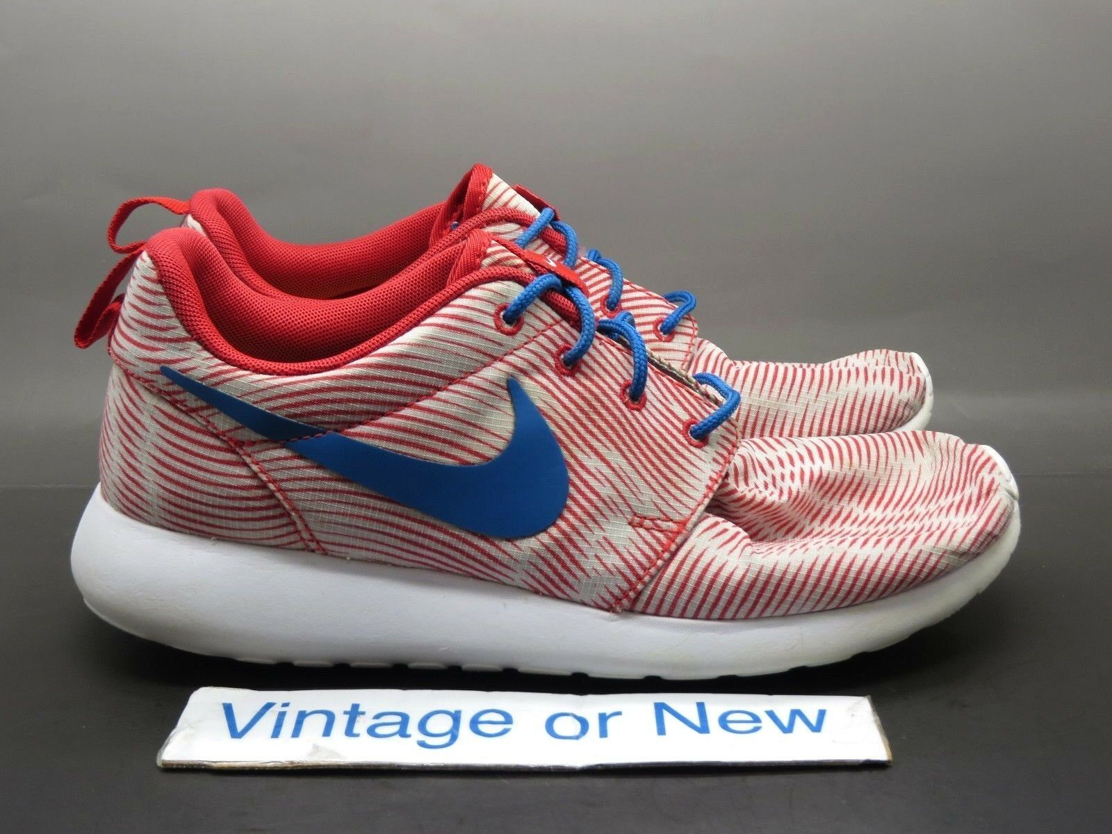 Women's Nike iD Roshe Run White Red Red Red Royal Running shoes 704693-995  sz 7.5 e52eda