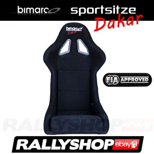 FIA BIMARCO DAKAR Sportsitz  Schwarz Sport Rally Sitze Glasfaser