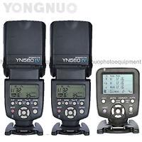 Yongnuo 2pcs YN560 IV Flash Speedlite + YN560TX Flash Controller for Canon Nikon