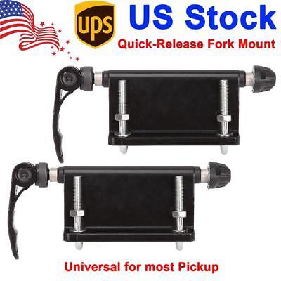 2 Packs Bike Block QR Alloy Fork Mount For Pickup Truck Bed Rack Carrier Holder