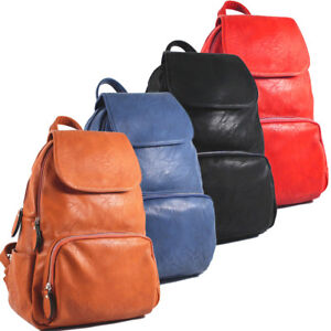 Ladies-Womens-Faux-Leather-Girls-Rucksack-Backpack-College-Uni-Gym-School-Bag-UK