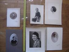 Lot PHOTO portraits de dames femmes woman lady VINTAGE