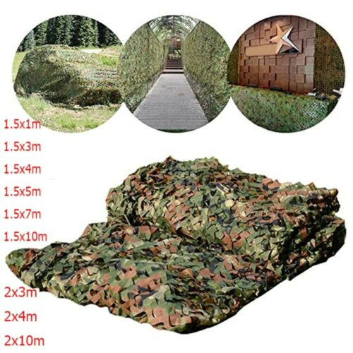Details about  /Hunting Camouflage Nets Army Training Car Covers Shade Tent Camping Sun Shelter