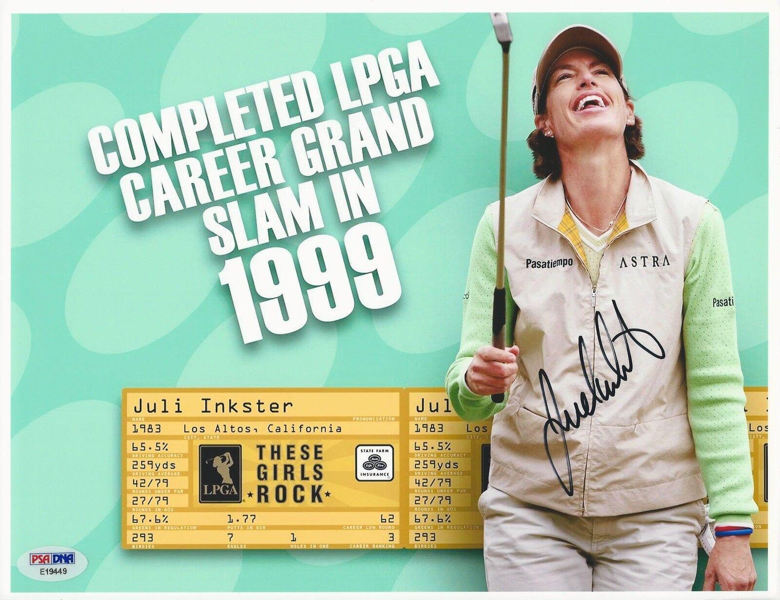 Juli Inkster LPGA Golfer signed 8x10 photo PSA/DNA #E19449