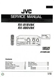 Rx-880 Tv, Video & Audio Hingebungsvoll Service Manual-anleitung+instruction Book Für Jvc Rx-818