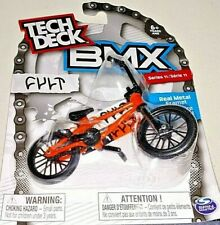 Tech Deck BMX Series 11 CULT Orange Bike Black Tires In Hand!