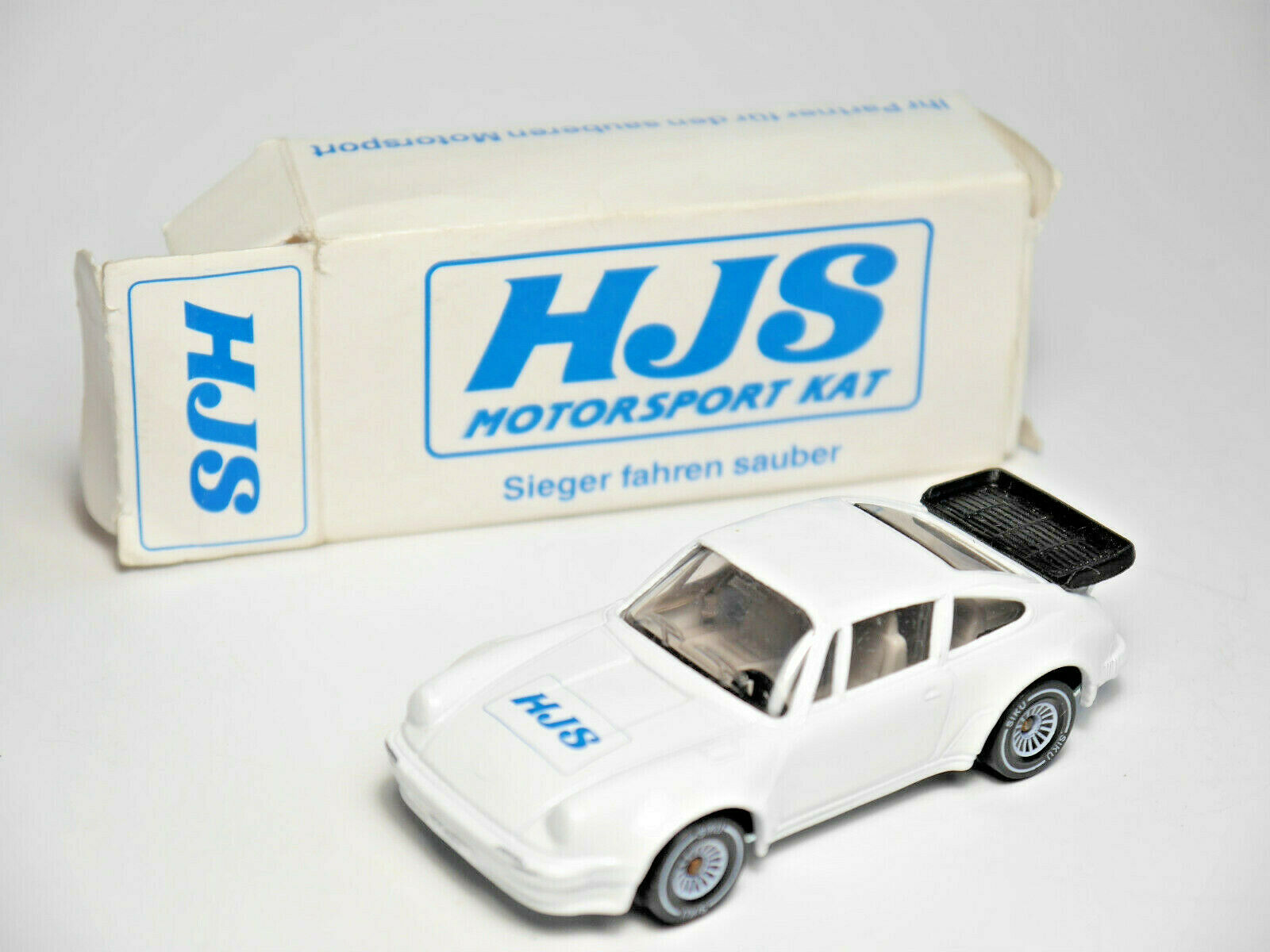 Porsche 911 (930) Turbo Werbemodell HJS MOTORSPORT KAT, Siku 1059 1 55 nm BOXED