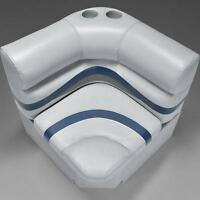 Premium 28 Corner Pontoon Boat Seats Gray, Blue, And Charcoal