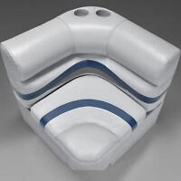Premium 28 Corner Pontoon Boat Seats Gray, Blue, And Charcoal