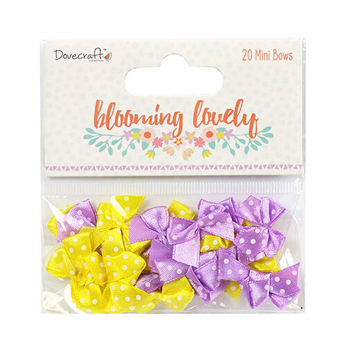 Dovecraft Blooming Lovely Mini Bows Embellishments for cards and crafts