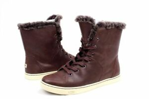 2ea9a67797f Details about BRAND NEW UGG Australia Croft Luxe Shearling High Top  Sneaker, Size 5, Espresso