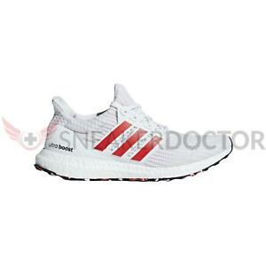 9543bc6e948 Image is loading adidas-Mens-Ultraboost-Running-Shoes-White-Active-Red-
