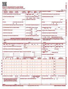 hcfa cms 1500 02 12 2500 sheets laser insurance hcfa claim forms