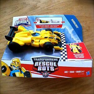 Transformers-RESCUE-BOTS-Bumblebee-Pull-back-Race-Car-PLAYSKOOL-HEROES-Hasbro