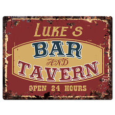 PPBT0320 LUKE/'S BAR and TAVERN Rustic Tin Chic Sign Home Store Decor Gift