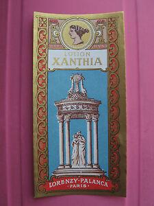 1-ANCIENNE-ETIQUETTE-PARFUM-LOTION-XANTHIA-ANTIQUE-PERFUME-LABEL-FRENCH-PARIS