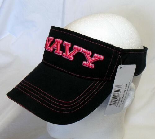 US NAVY UNITED STATES NAVY VISOR Officially Licensed Sport Visor with Pink Embro
