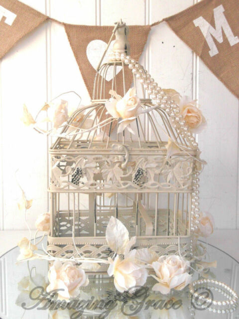 Vintage Style Decorative Bird Cage Wedding Table Centerpiece