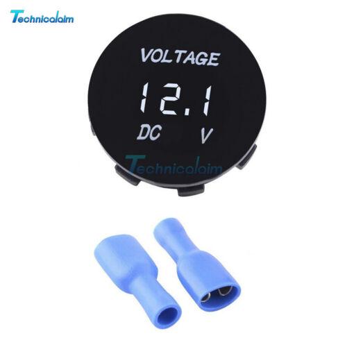 LED Panel DC 12V-24V Digital Voltage Volt Meter Voltmeter Green//Red//White//Blue