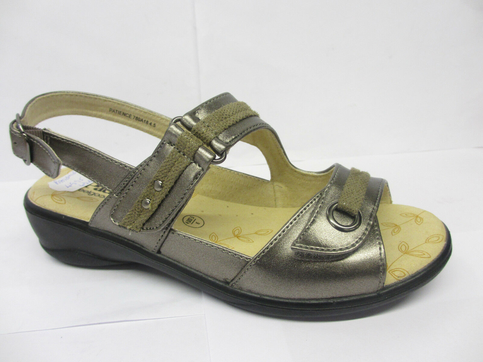 LADIES PADDERS PATIENCE CASUAL REPTILE PRINT RIPTAPE STRAP CASUAL PATIENCE SUMMER SANDALS SHOES 4c17fb
