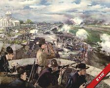 BATTLE OF CALOOCAN PAINTING PHILLIPINE AMERICAN WAR ART REAL CANVASPRINT