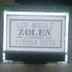 12864-128X64-Serial-SPI-Graphic-COG-LCD-Module-Display-Screen-LCM-w-ST7565P