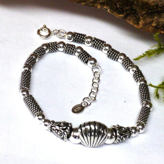 wunderschönes 925 Silber Armband Venusmuschel Jakobsmuschel Handarbeit L:18-20cm
