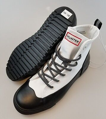 8.5 White High Top Canvas Sneakers   eBay