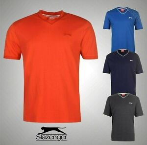 Mens-Slazenger-Casual-Short-Sleeves-V-Neck-T-Shirt-Top-Sizes-from-S-to-XXXXL
