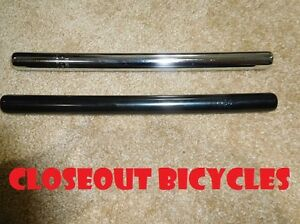 Black-or-Chrome-22-2mm-Steel-Seat-Post-7-8-034-Cruiser-BMX-Bicycle-Seatpost