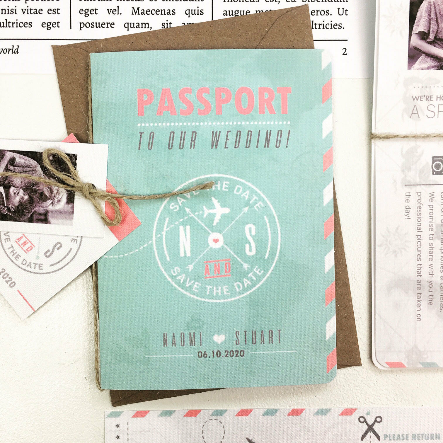Passeport amour mariage invitation amour Passeport voyages outre-mer destination mariage inviter e60949