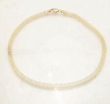 "10""  3mm Bizmark Bismark Chain Ankle Bracelet Anklet Real Solid 10K Yellow Gold"