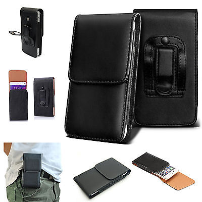 Universal PU Leather Top Belt Clip Holster Case Cover For Various Mobile Phones