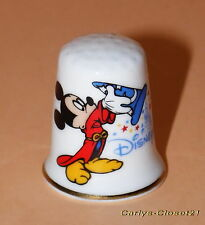 DISNEY * Disneyland Paris Collectable China Thimble * Mickey Mouse / Fantasia *