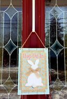 Easter Bunny Rabbit Door Wreath Wall Hanging Decor Swag Floral Gift Pick Egg 12