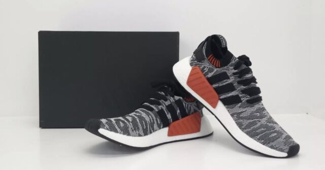 New adidas Men's Shoes Size 9 NMD_R2 PK Running Primeknit  Black/White BY9409