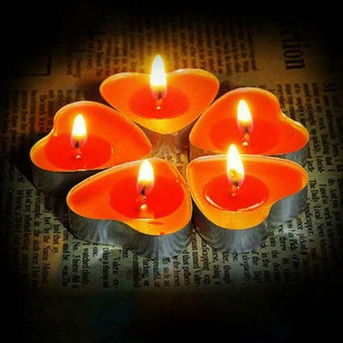 Details about  /50Pcs//box Love Heart Shaped Tealight Candles Smokeless New 2021 Candle F3O7