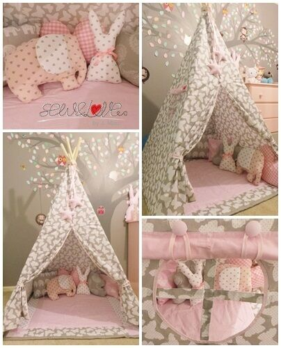 childrens handmade tent teepee tipi wigwam full set! MADE TO ORDER