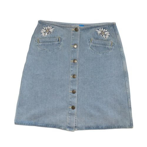 Anthropologie Skirt M.i.H Jeans Button Front A Li… - image 1