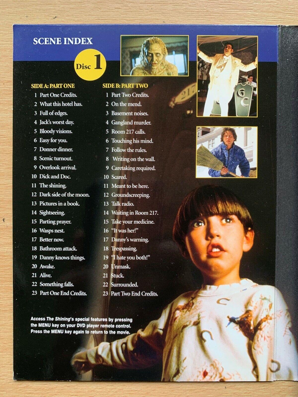 The Shining DVD Stephen King Haunted Hotel 1997 Horror TV Mini Series