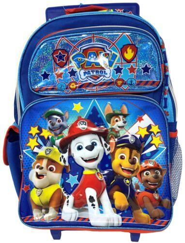 """Nickelodeon New Paw Patrol 16/"""" Rolling School Backpack 18126"""