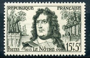 Objectif Stamp / Timbre France Neuf N° 1208 * Andre Le Notre / Neuf Charniere