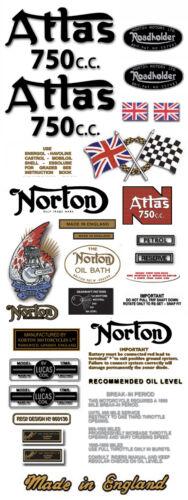 FULL DECAL SET Atlas Decals 1962-68 Norton decals