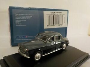 Rover-P4-Steel-Blue-light-navy-Oxford-Diecast-1-76-New-76p4002