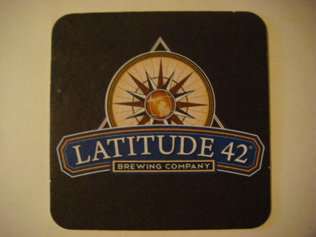 Beer Coaster ~*~ Latitude 42 Brewing Co ~ Portage, MICHIGAN ~ Brewing Since 2013