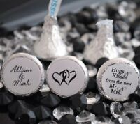 216 Hugs & Kisses From The Mr. & Mrs. Hershey Kiss Labels Stickers Favors
