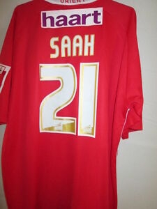 Leyton-Orient-Saah-Match-Worn-Signed-2006-2007-Home-Football-Shirt-with-COA