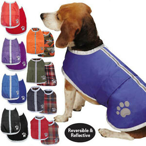 Reversible-Blanket-Dog-Coat-Jacket-Reflective-Rain-Noreaster-Pet-Water-Resistant