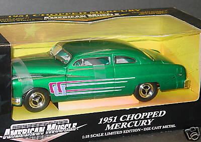 ERTL 1 18, 1951 CHOPPED MERCURY, Green, NEW
